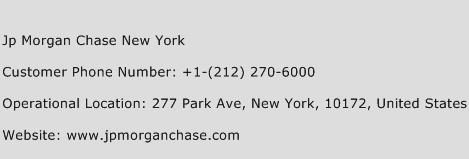 Jp Morgan Chase New York Phone Number Customer Service