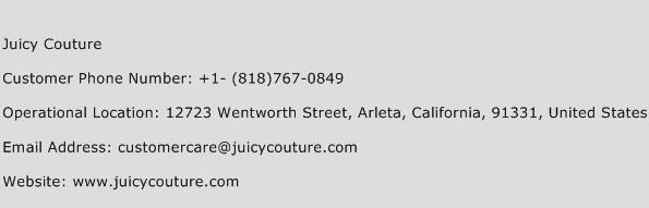 Juicy Couture Phone Number Customer Service