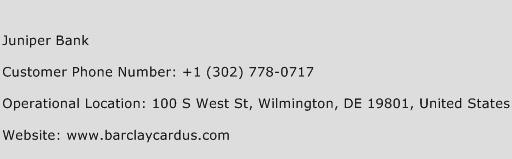 Juniper Bank Phone Number Customer Service