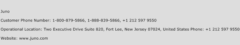 Juno Phone Number Customer Service