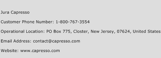 Jura Capresso Phone Number Customer Service