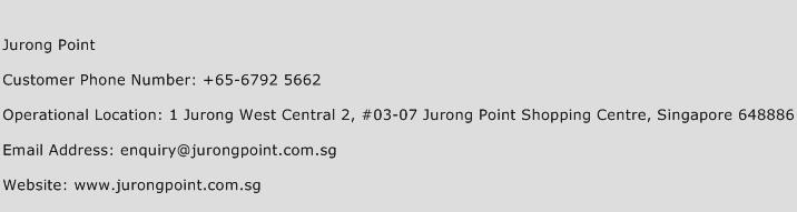 Jurong Point Phone Number Customer Service