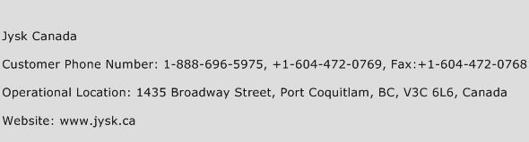 Jysk Canada Phone Number Customer Service