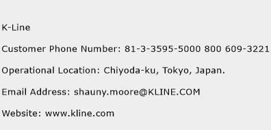K-Line Phone Number Customer Service