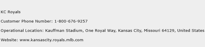 KC Royals Phone Number Customer Service