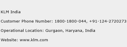 KLM India Phone Number Customer Service