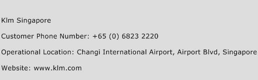 KLM Singapore Phone Number Customer Service