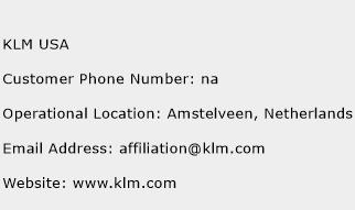 KLM USA Phone Number Customer Service