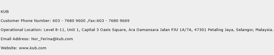 KUB Phone Number Customer Service