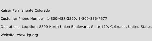 Kaiser Permanente Colorado Customer Service Phone Number | Contact ...