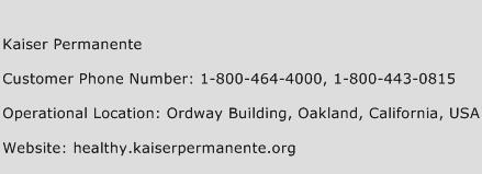 Kaiser Permanente Customer Service Phone Number | Contact Number ...