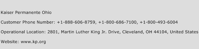 Kaiser Permanente Ohio Customer Service Phone Number | Contact ...