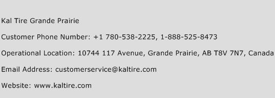 Kal Tire Grande Prairie Phone Number Customer Service