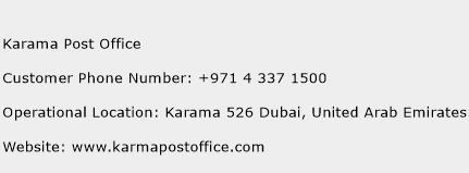Karama Post Office Phone Number Customer Service