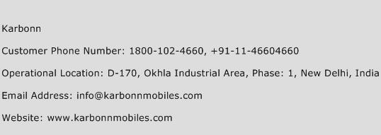 Karbonn Phone Number Customer Service