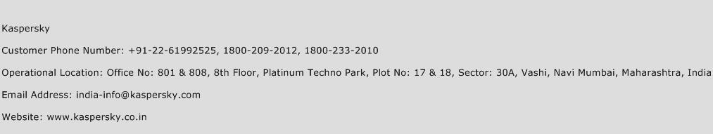Kaspersky Phone Number Customer Service