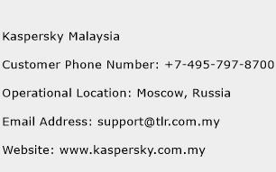 Kaspersky Malaysia Customer Service Phone Number