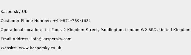 Kaspersky UK Phone Number Customer Service