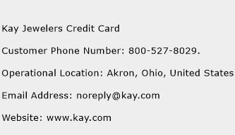 Kay Jewelers Credit Card Phone Number Customer Service