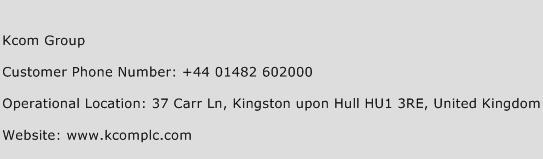 Kcom Group Phone Number Customer Service