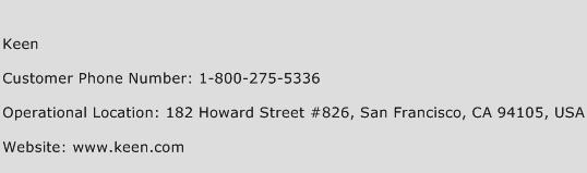 Keen Phone Number Customer Service