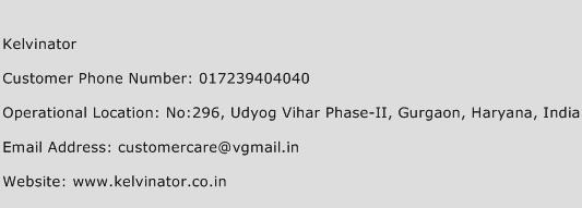 Kelvinator Phone Number Customer Service