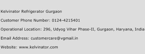 Kelvinator Refrigerator Gurgaon Phone Number Customer Service