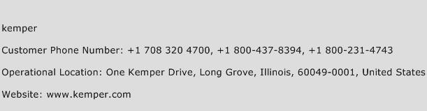 Kemper Phone Number Customer Service