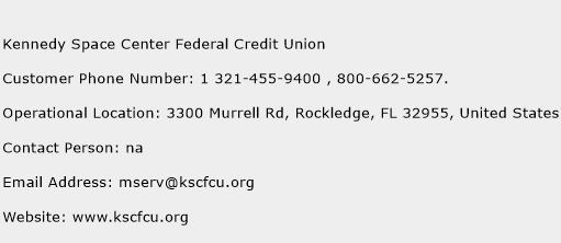 Kennedy Space Center Federal Credit Union Phone Number Customer Service