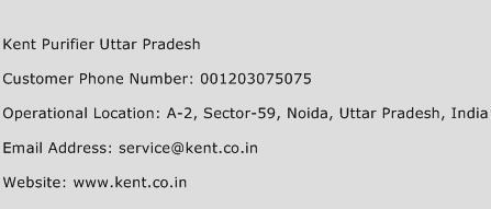 Kent Purifier Uttar Pradesh Phone Number Customer Service