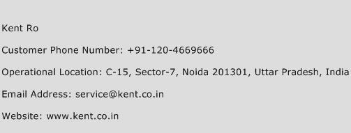 Kent Ro Phone Number Customer Service