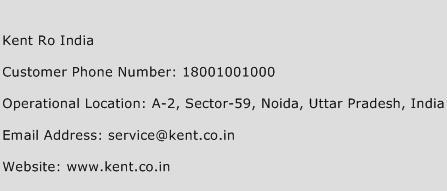 Kent Ro India Phone Number Customer Service