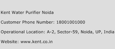 Kent Water Purifier Noida Phone Number Customer Service