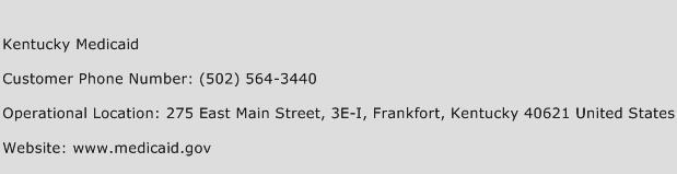 Kentucky Medicaid Phone Number Customer Service