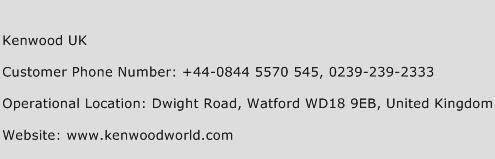 Kenwood UK Phone Number Customer Service