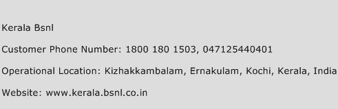 Kerala BSNL Phone Number Customer Service