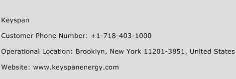 Keyspan Phone Number Customer Service