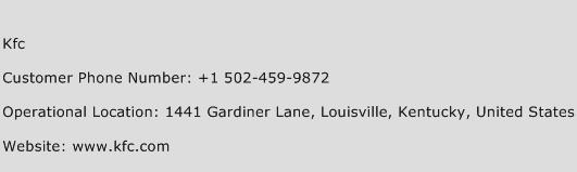 Kfc Phone Number Customer Service