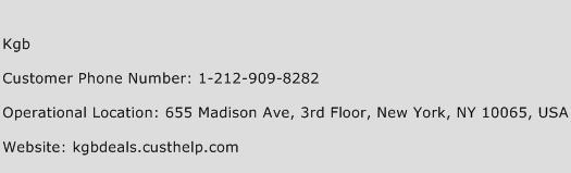 Kgb Phone Number Customer Service