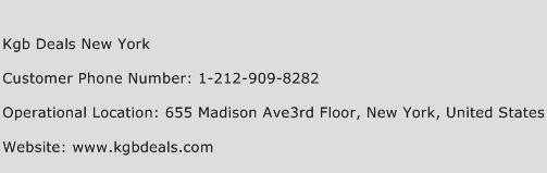 Kgb Deals New York Phone Number Customer Service