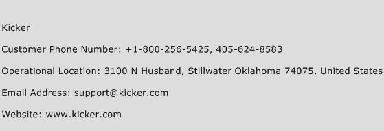 Kicker Phone Number Customer Service