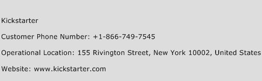 Kickstarter Phone Number Customer Service