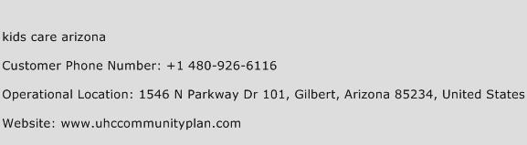 Kids Care Arizona Phone Number Customer Service