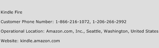 Kindle Fire Phone Number Customer Service