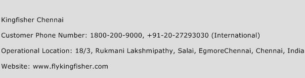 Kingfisher Chennai Phone Number Customer Service