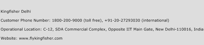 Kingfisher Delhi Phone Number Customer Service