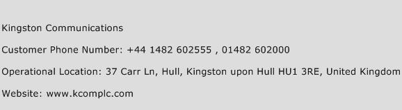 Kingston Communications Phone Number Customer Service