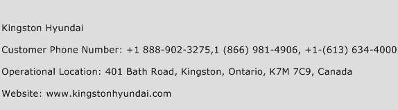 Kingston Hyundai Phone Number Customer Service