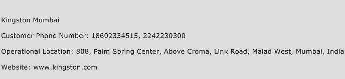 Kingston Mumbai Phone Number Customer Service
