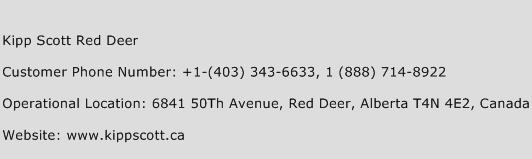 Kipp Scott Red Deer Phone Number Customer Service